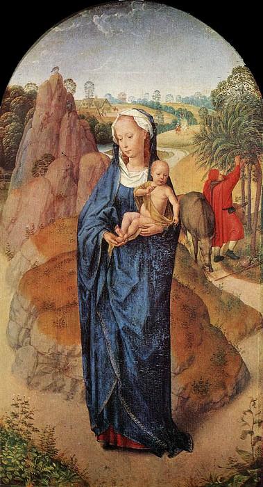 Virgin and Child in a Landscape Rothschild. Hans Memling