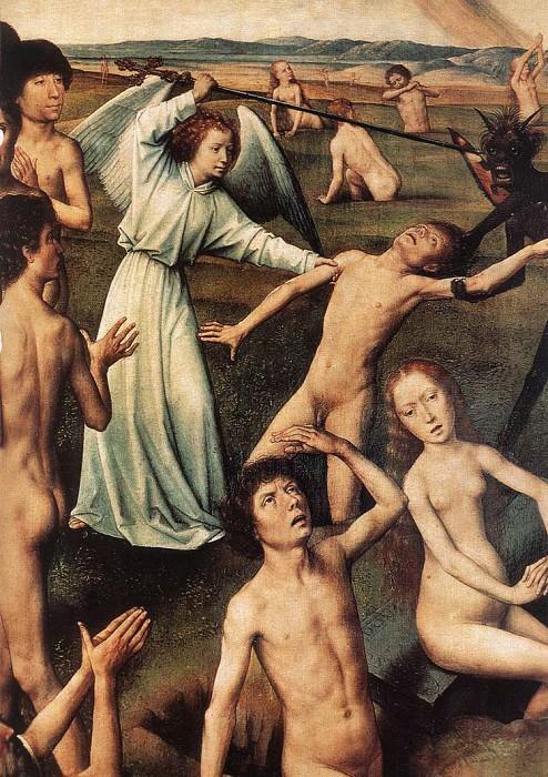 Last Judgment Triptych (open) 1467 1 detail. Hans Memling