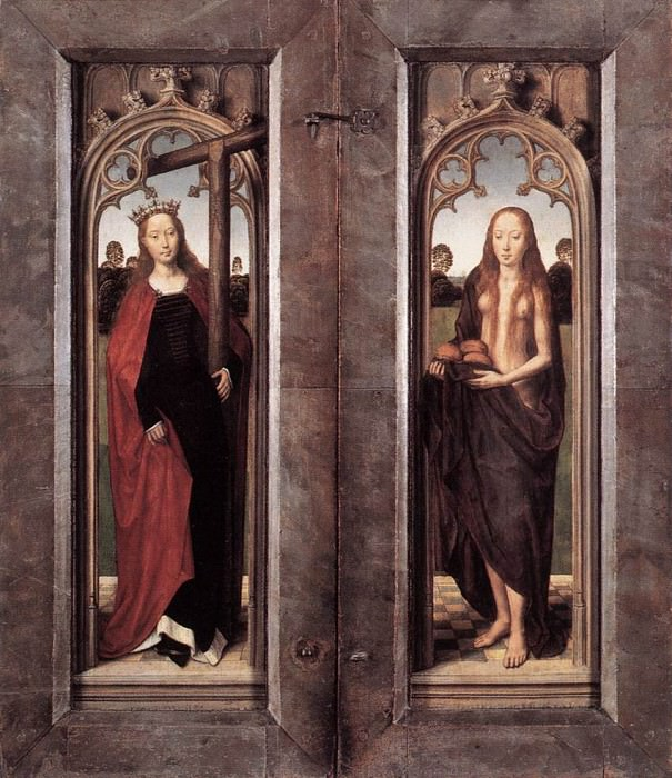 Triptych of Adriaan Reins 1480 detail4 closed. Hans Memling