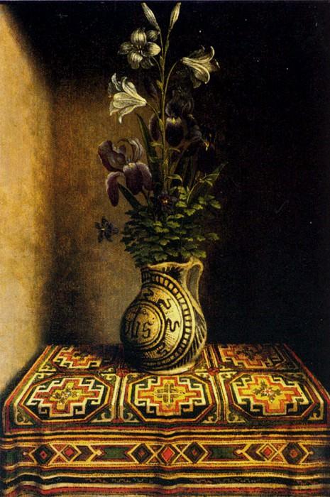 Marian Flowerpiece. Hans Memling