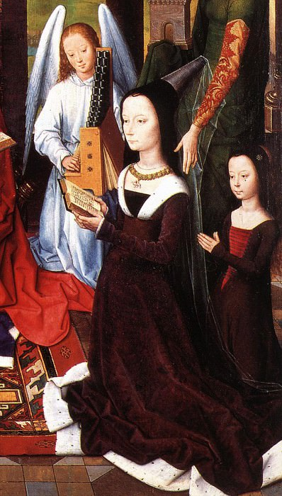 The Donne Triptych c1475 detail5 central panel. Hans Memling
