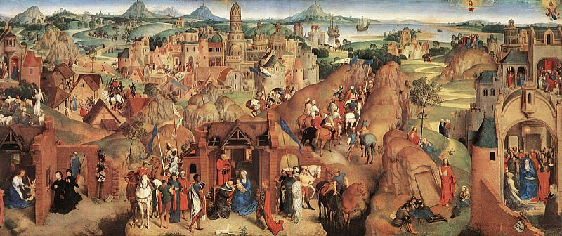 Advent and Triumph of Christ 1480. Hans Memling