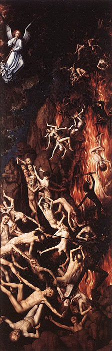 Last Judgment Triptych (open) 1467 1 detail. Hans Memling