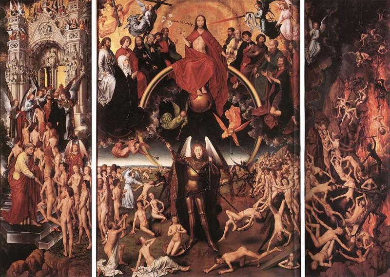 Last Judgment Triptych (open) 1467. Hans Memling