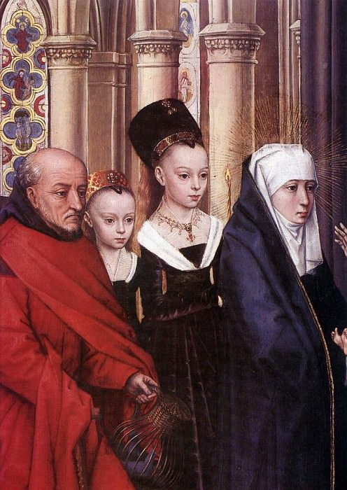 The Presentation in the Temple detail1. Hans Memling