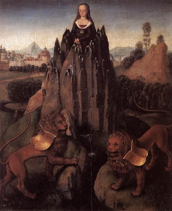 Allegory with a Virgin 1479 80. Hans Memling