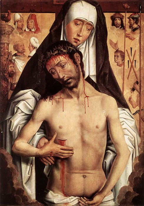 The Virgin Showing the Man of Sorrows c1480. Hans Memling