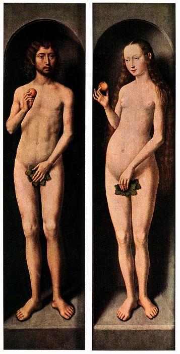 Адам и Ева, ок.1485. Ганс Мемлинг