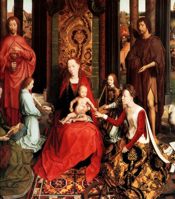 Marriage of St Catherine. Hans Memling