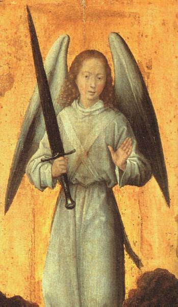 The Archangel Michael c1479. Hans Memling