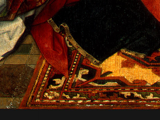 MADONNA AND CHILD WITH ANGELS,DETALJ 11, NGW. Hans Memling