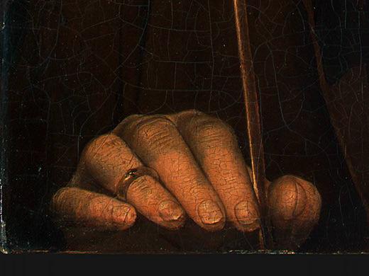 PORTRAIT OF A MAN WITH AN ARROW, C. 1470-1475, DET(1. Hans Memling