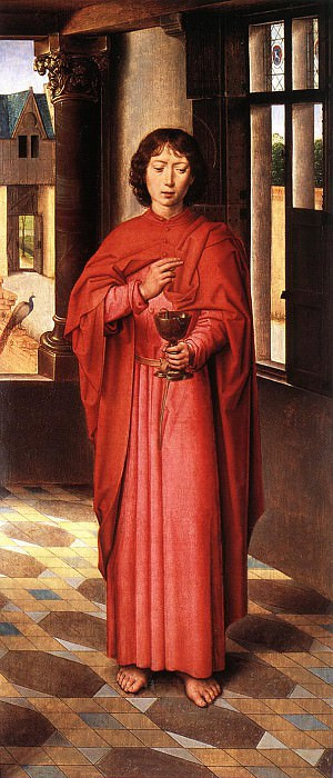 The Donne Triptych c1475 detail6 right wing. Hans Memling