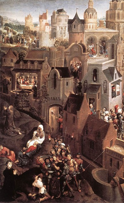 Scenes from the Passion of Christ 1470 1 detail1 left side. Hans Memling