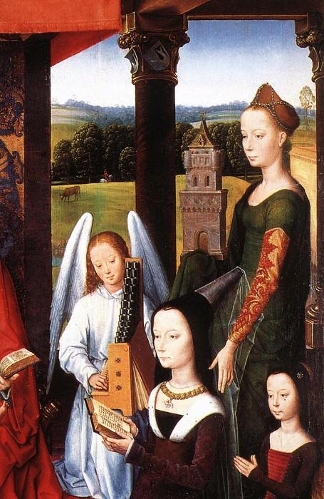 The Donne Triptych c1475 detail4 central panel. Hans Memling