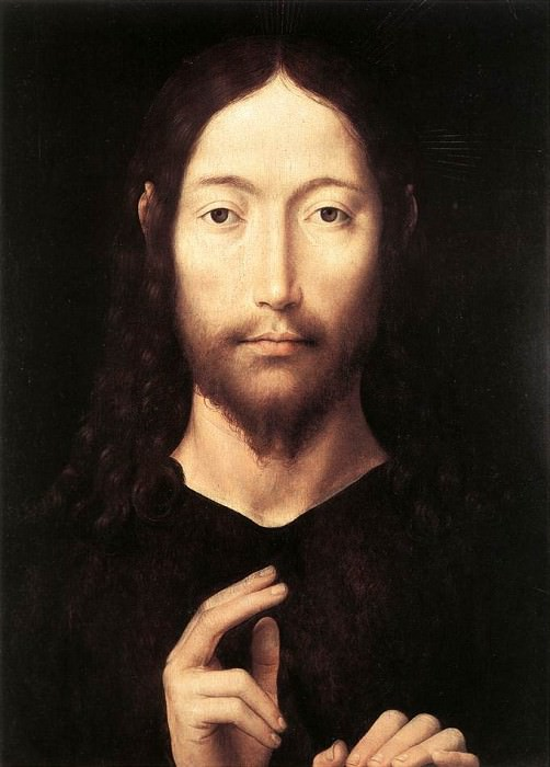 Christ Giving His Blessing 1478. Hans Memling
