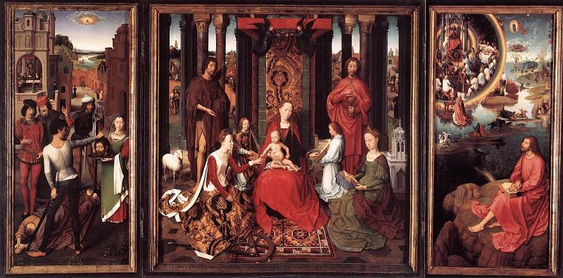 St John Altarpiece 1474 9. Hans Memling