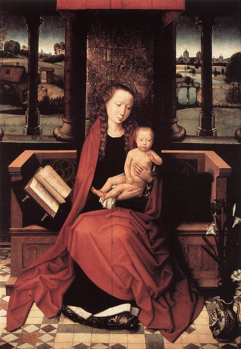 Virgin and Child Enthroned 1480s. Hans Memling
