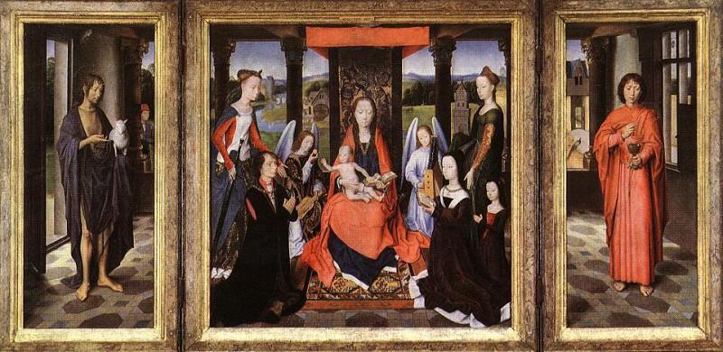 The Donne Triptych c1475. Hans Memling