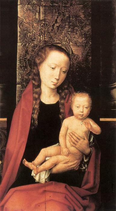 Virgin and Child Enthroned 1480s detail1. Hans Memling