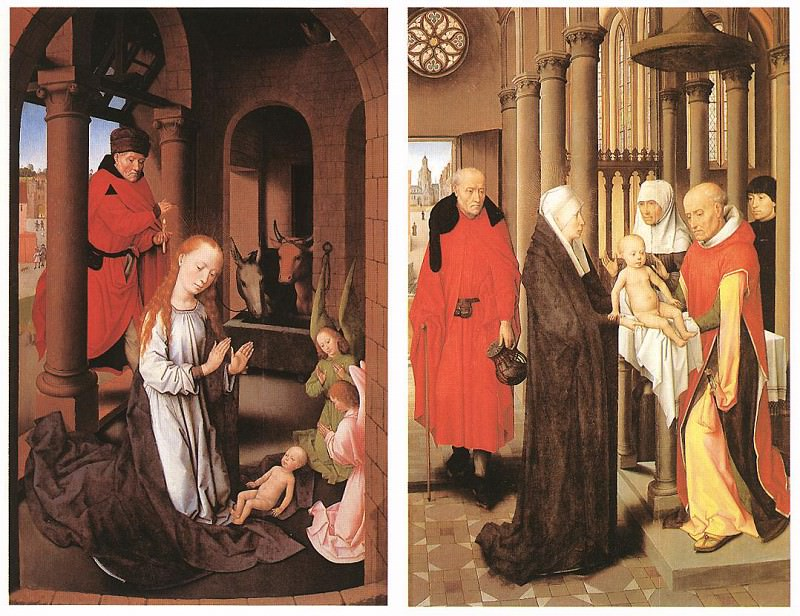 Wings of a Triptych c1470. Hans Memling