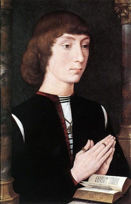 Young Man at Prayer c1475. Hans Memling