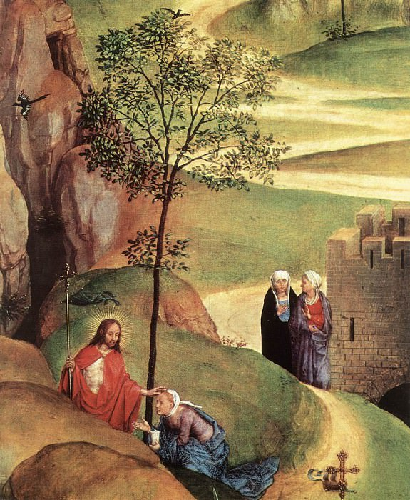 Advent and Triumph of Christ 1480 detail. Hans Memling