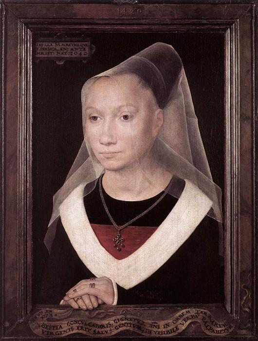 Portrait of a Young Woman 1480. Hans Memling