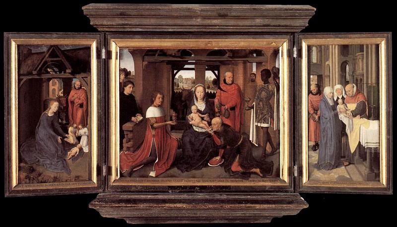 Triptych of Jan Floreins 1479. Hans Memling
