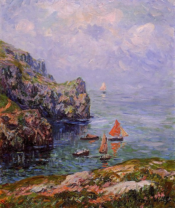 Misty Weather Brizellec Finistere 1911. Henry Moret