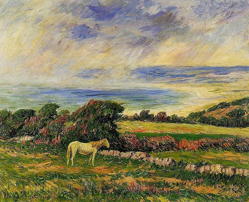 Horse in a Meadow. Henry Moret
