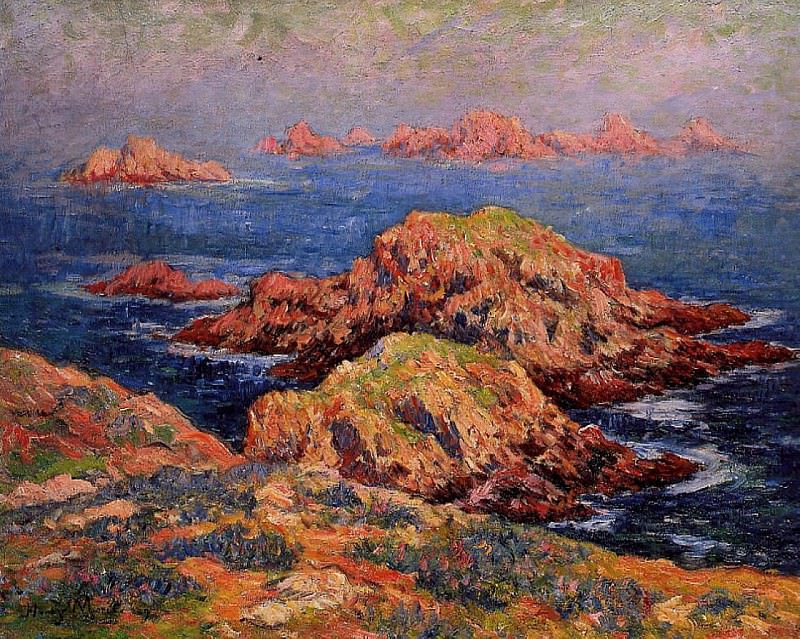 The Red Rocks at Ouessant 1909. Henry Moret