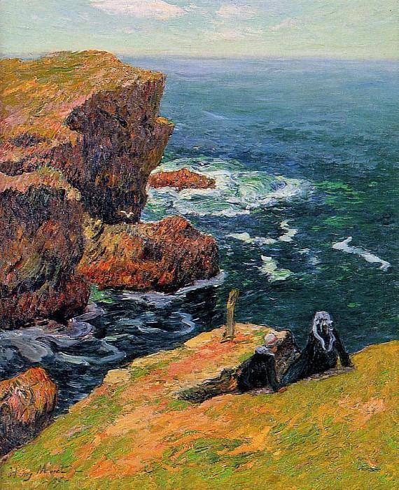 Берег у Моэлана, 1896 (картина) — Анри Море