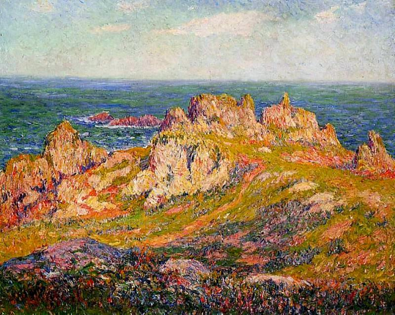 Rocks by the Sea. Henry Moret