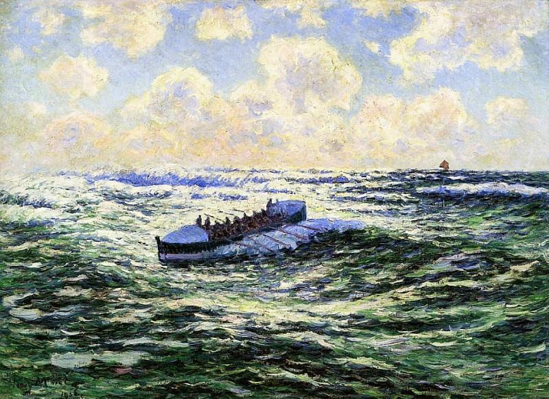 Лодка, полная рыбаков, 1906. Анри Море