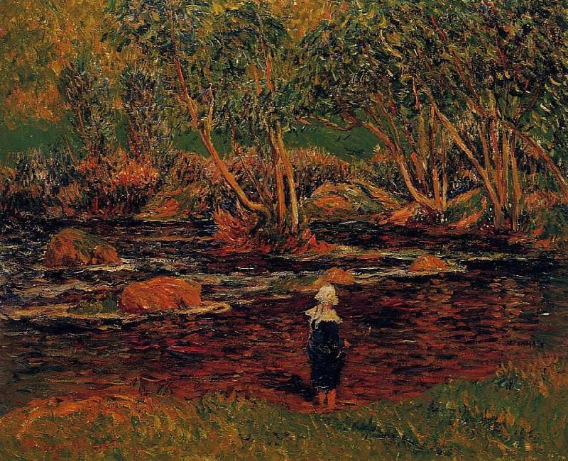 A Ford Pont Aven River 1899. Henry Moret