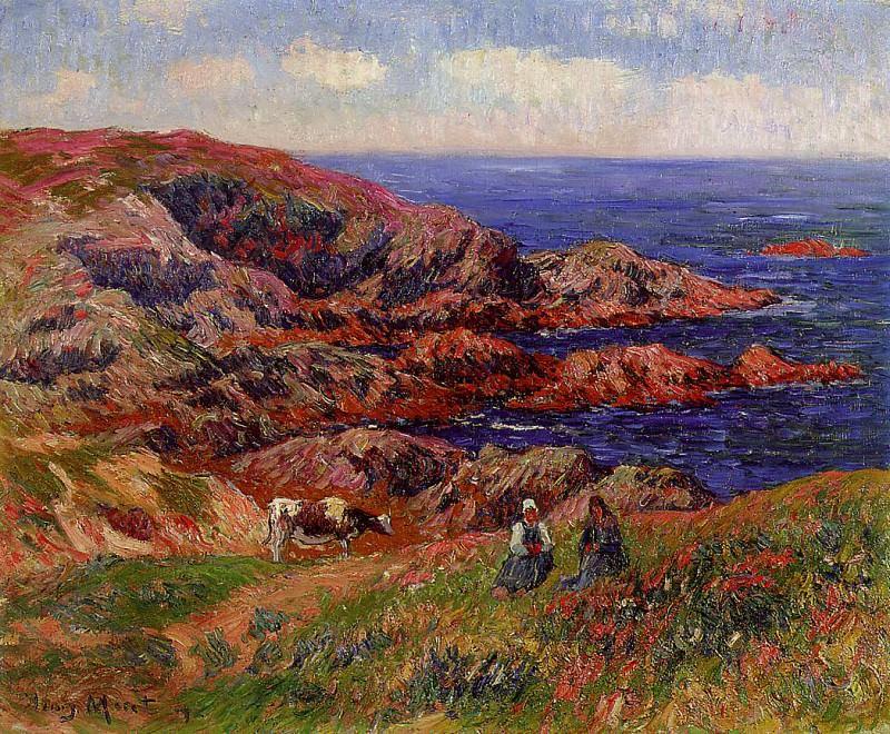Cliffs at Kerserol Finistere 1909. Henry Moret