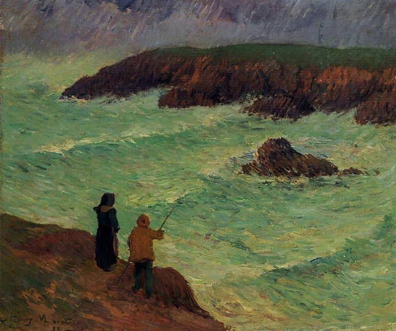 The Cliffs near the Sea 1896. Henry Moret
