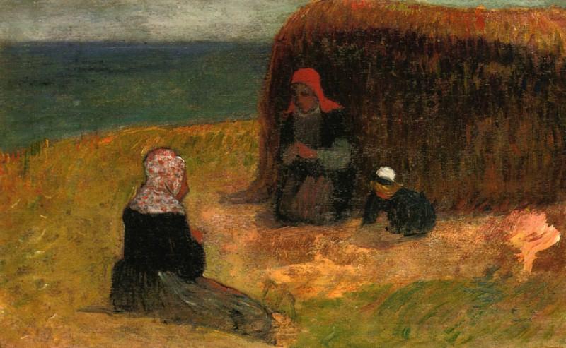 Breton Women witih Haystack 1890. Henry Moret