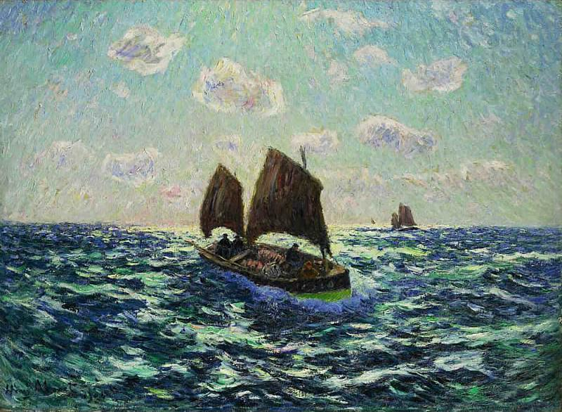 Fishing Boat in Brittany 1904. Henry Moret