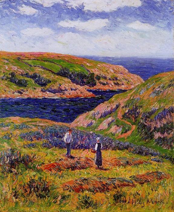 Cliffs at Clohars Carnoet 1910. Henry Moret