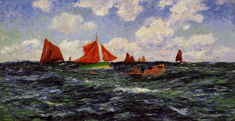 Fishing Boats off the Coast 1902. Henry Moret