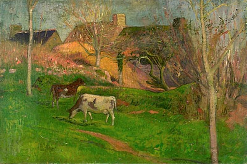 Paysage de Pont Aven 1889. Henry Moret