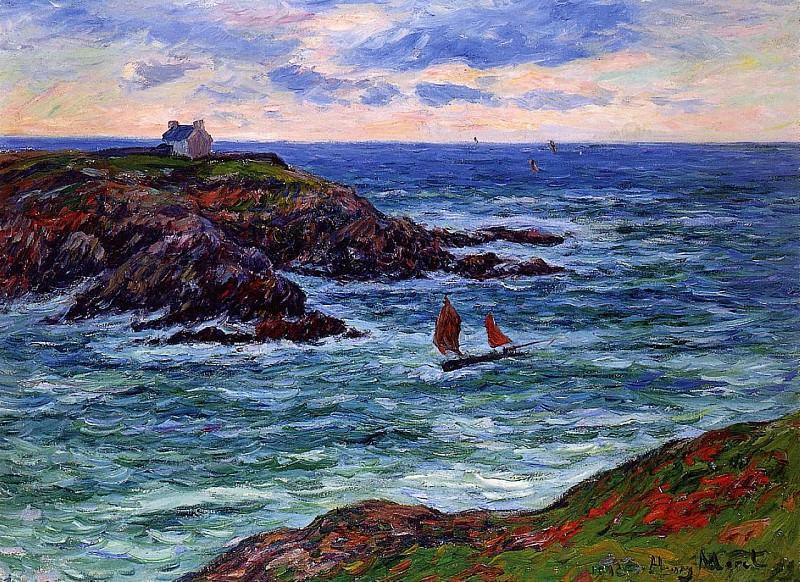 Sailboats off the Coast of Douelian 1902. Henry Moret