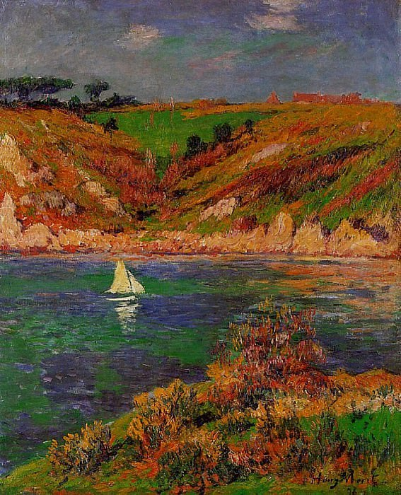 Sailboats in Brittany 1898. Henry Moret