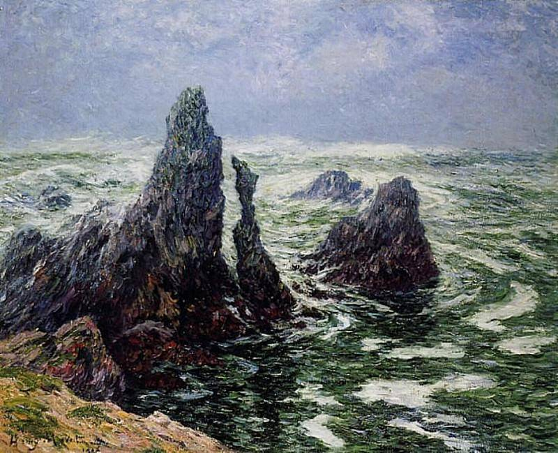 The Needles of Port Cotom Belle Ile 1906. Henry Moret