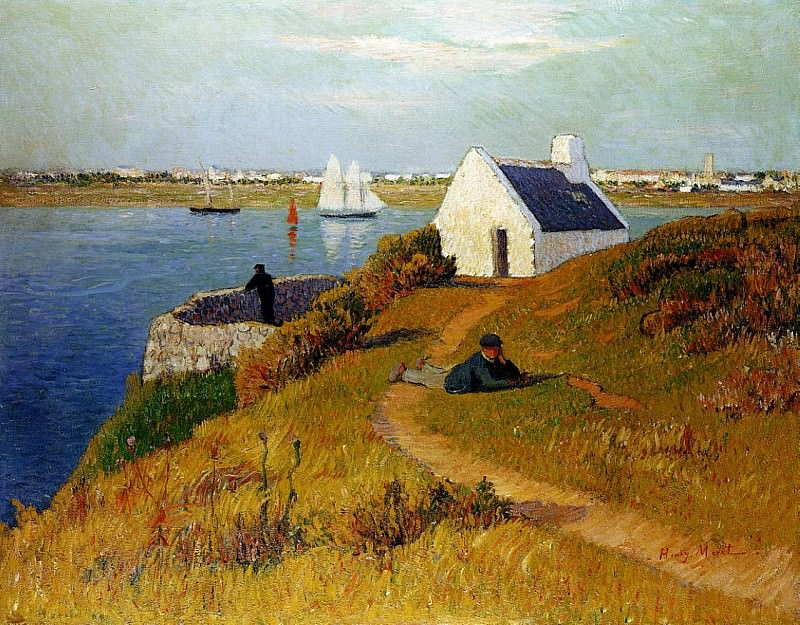 Lorient Harbor 1895. Henry Moret