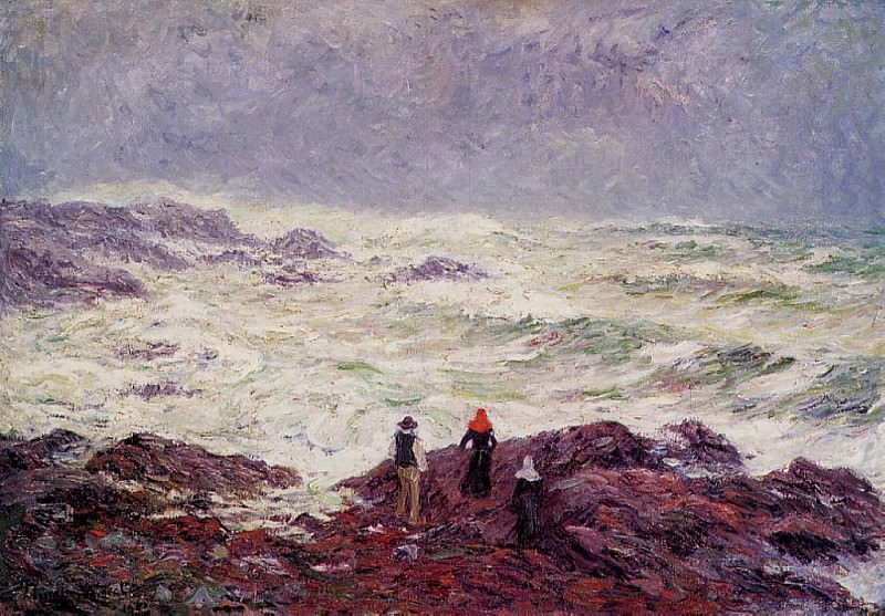 Rough Weather at Raguenez near Pont Aven 1904. Henry Moret