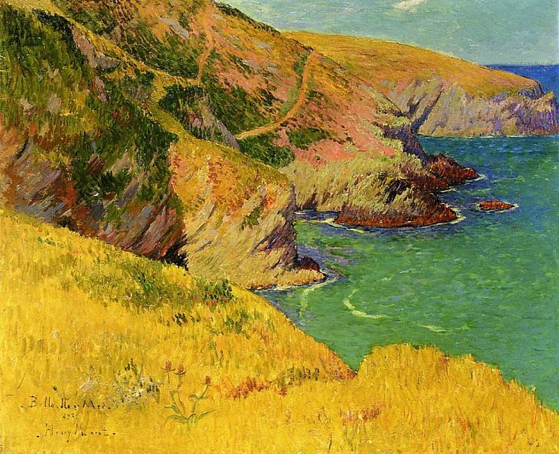 Belle оle en Mer Cliffs 1892. Henry Moret