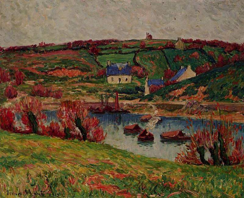 The River at Douaelan sur Mer 1913. Henry Moret